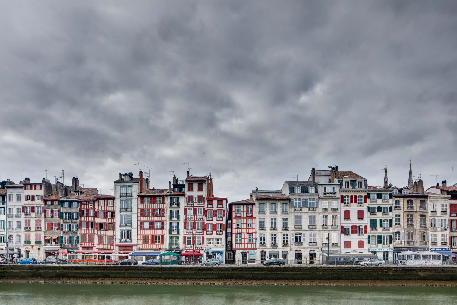 View on Houses at the river at Southern France