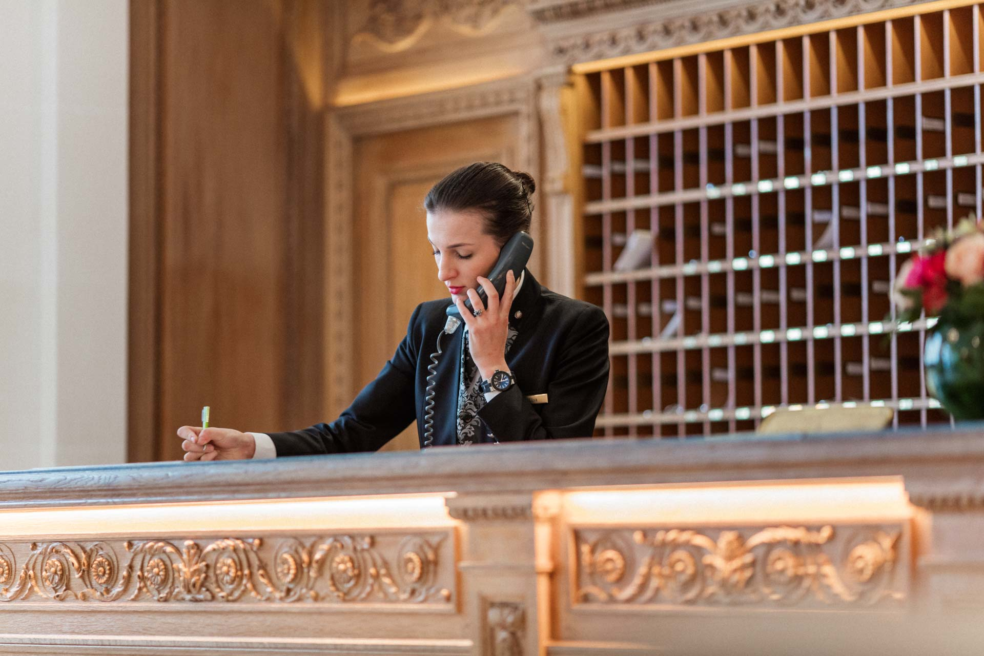 Concierge at Hotel Le Bristol Paris