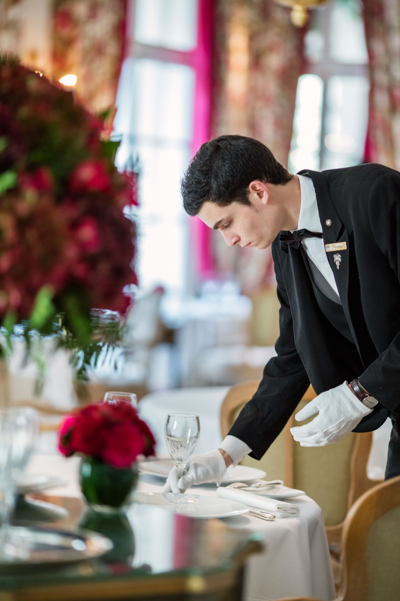 Waiter at Hotel Le Bristol Paris