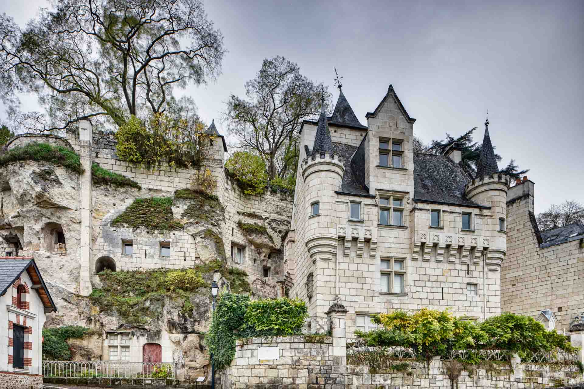 View on a castle at the Loire Valley