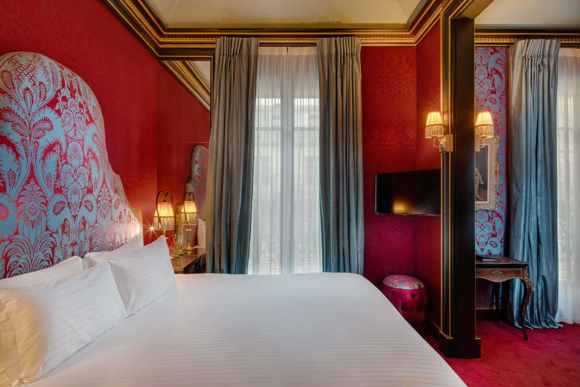 View on deluxe room of luxury boutique Hotel Maison Souquet