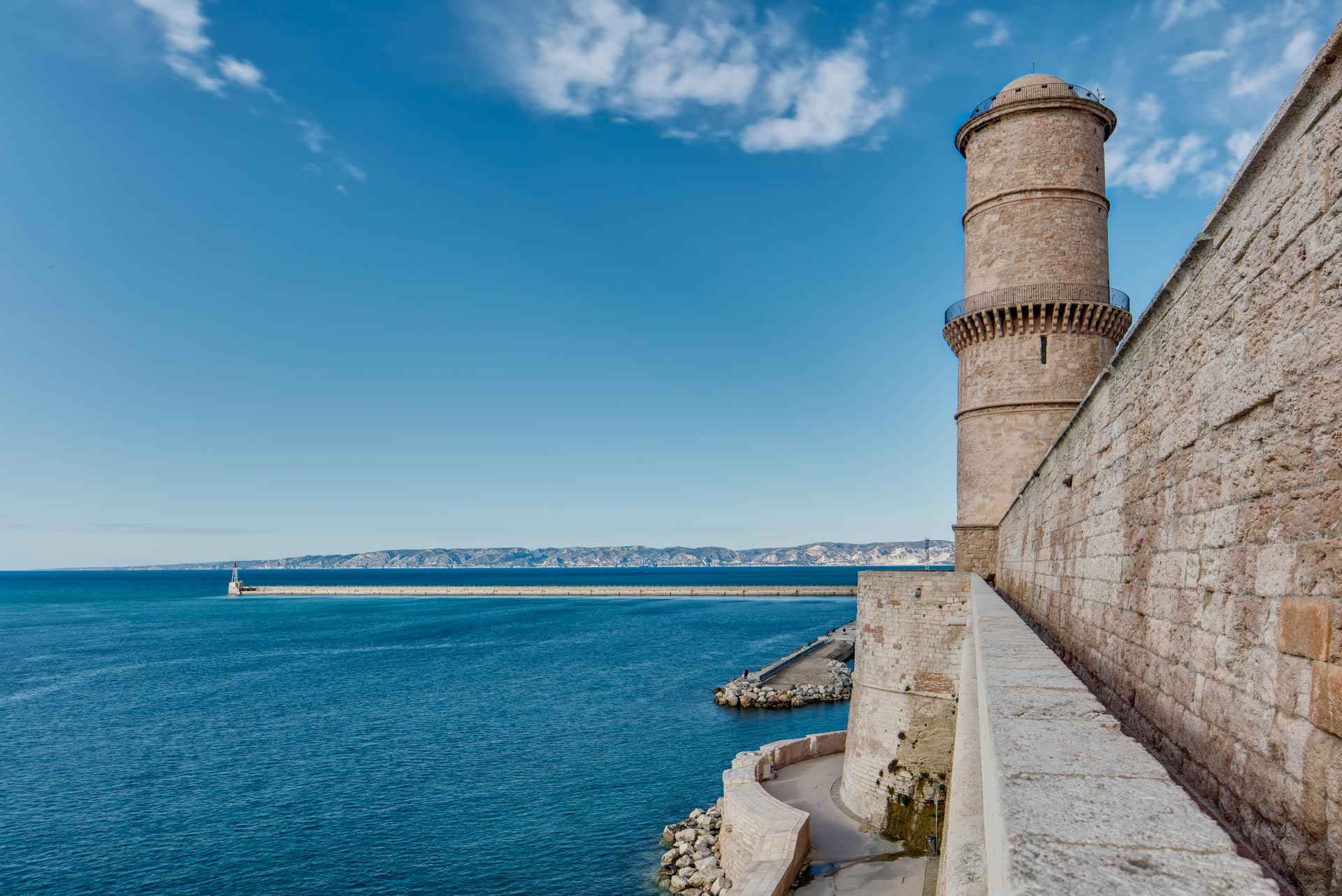 View on Light house and the sea at Marseille