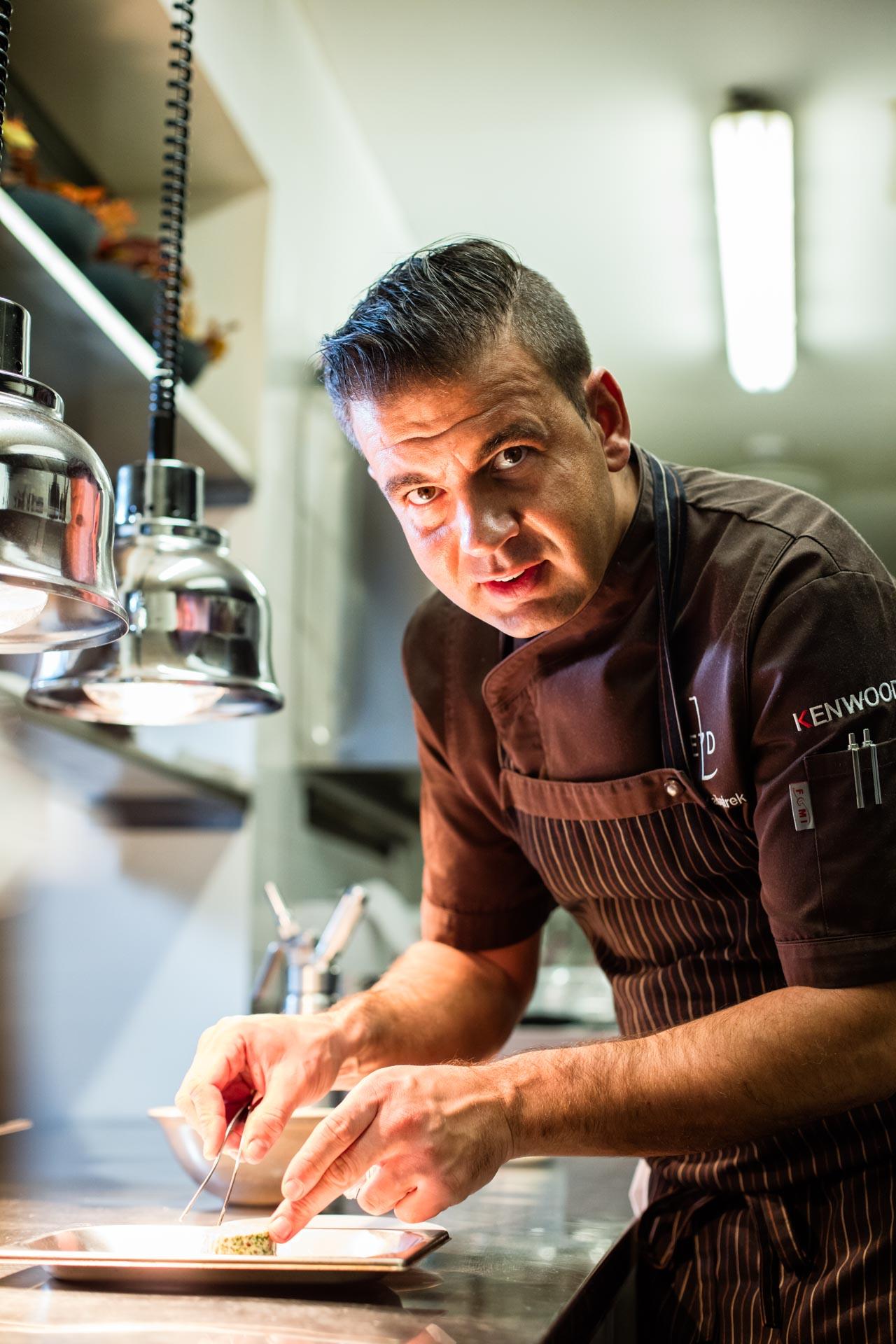 michelin star chef marek kasparek at restaurant field