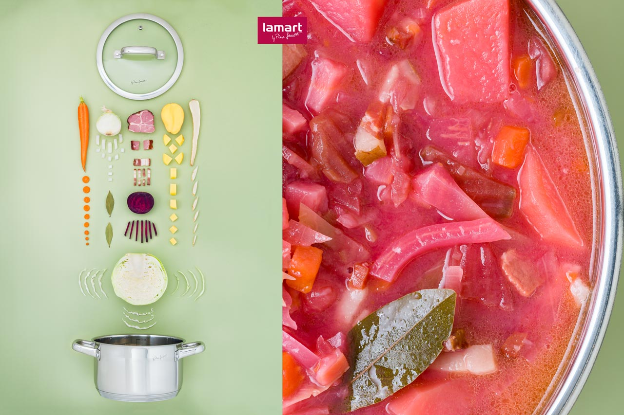 Lamart recipe images promoting the cookware brand
