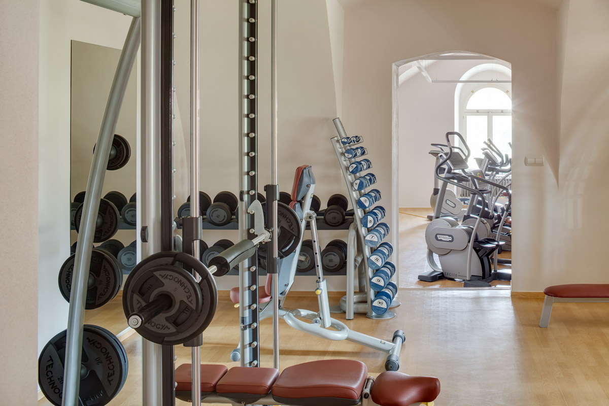 Fitness room at Chateau Herálec Boutique Hotel & Spa by L'occitane