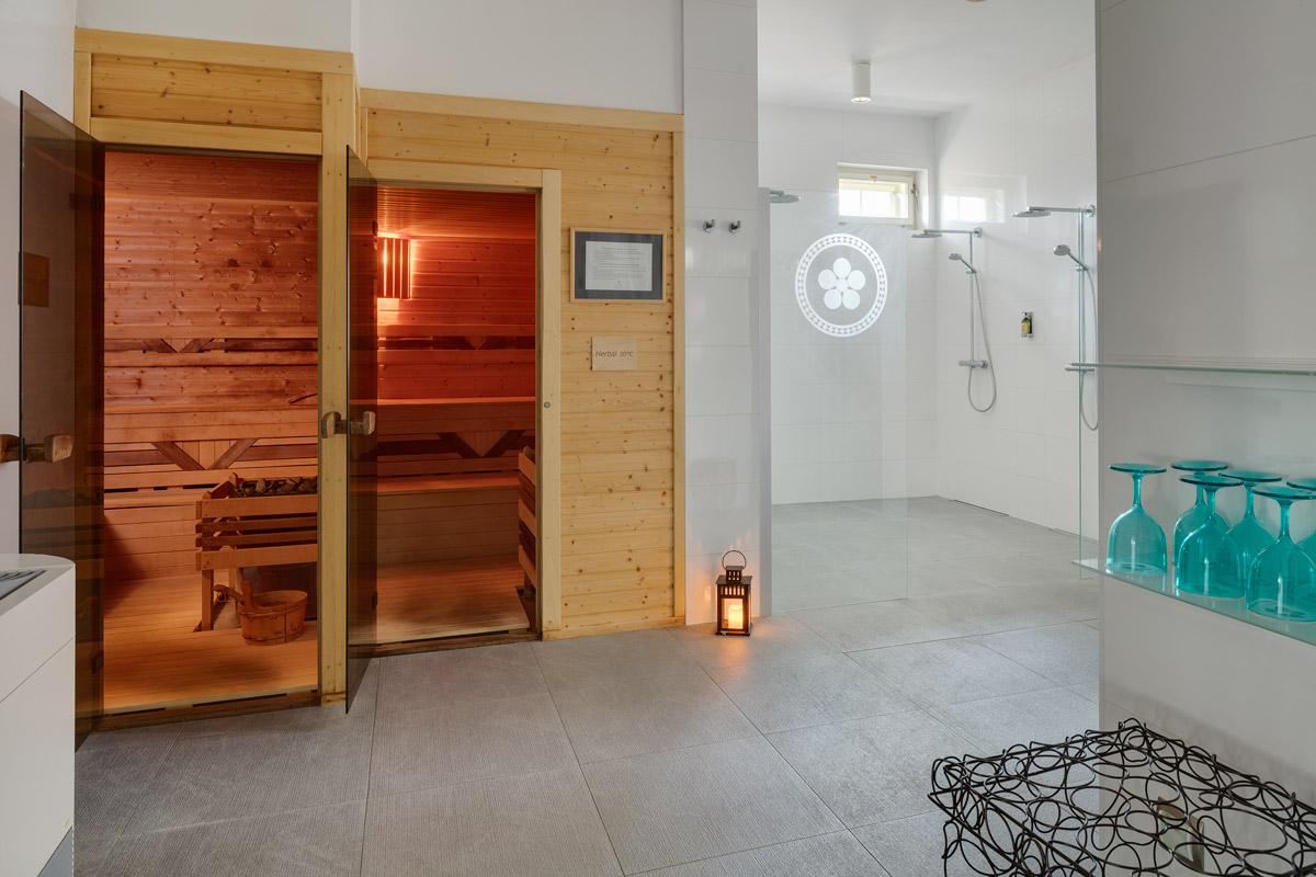 Sauna at Chateau Herálec Boutique Hotel & Spa by L'occitane