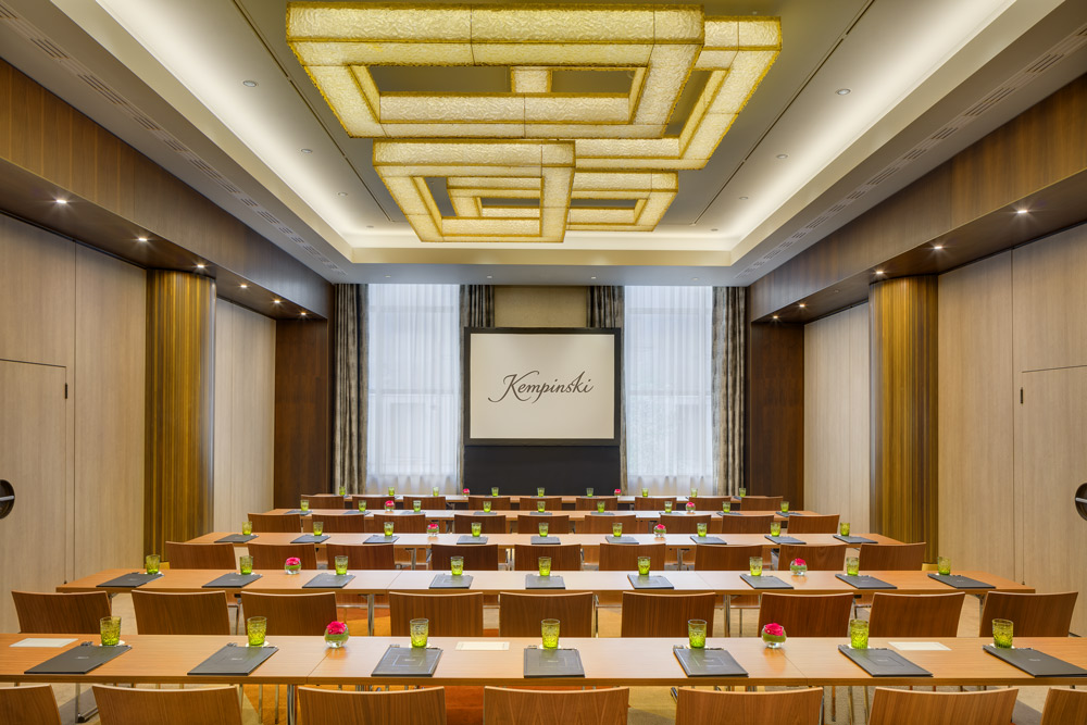 Meeting room at the Kempinski Hotel Corvinus, Budapest