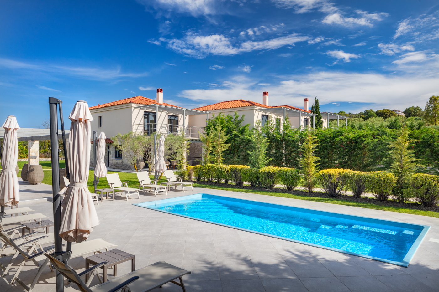 Swimming pool at Chateau Herálec Boutique Hotel & Spa by L'occitane
