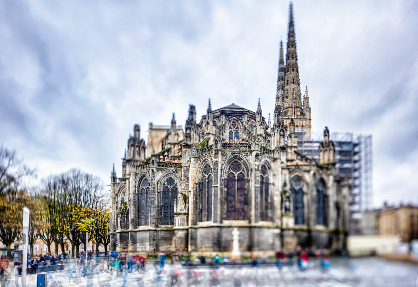 View on Cathedral in Bordeaux